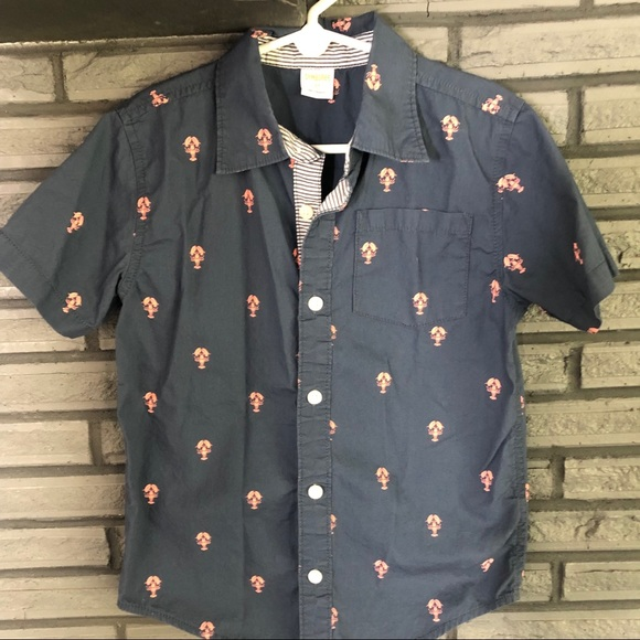 Gymboree Other - Lobster print button down